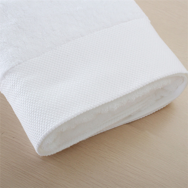 100% Cotton Hotel 16S Terry Dobby Botttom Bath Towel Sets