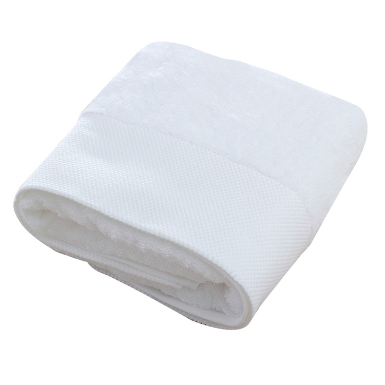 100% Cotton Hotel 16S Terry Dobby Botttom Bath Towel Sets