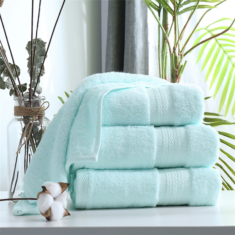 100% Cotton Anti-Bacterial Anti-mite Absorbent Bath Towel Set