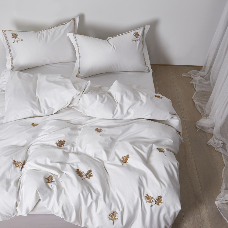Embroidered Cotton Bedding Set