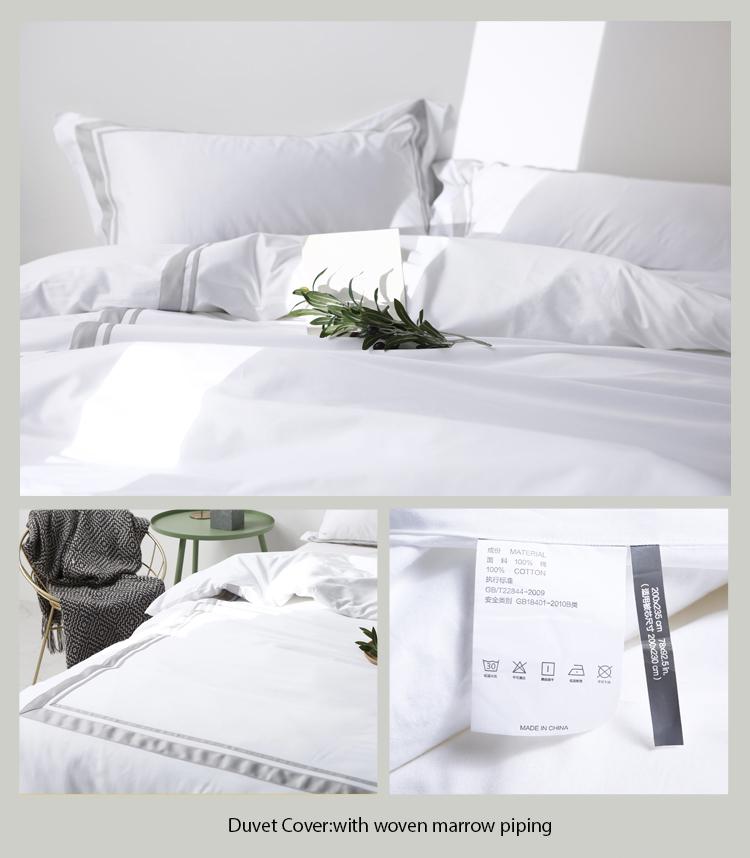 Satin Stitch Cotton Bedding Set