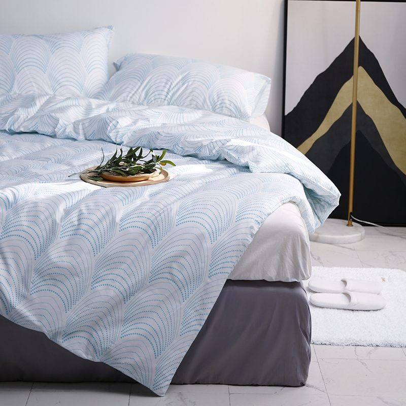 4 Piece Printed Bedding Set