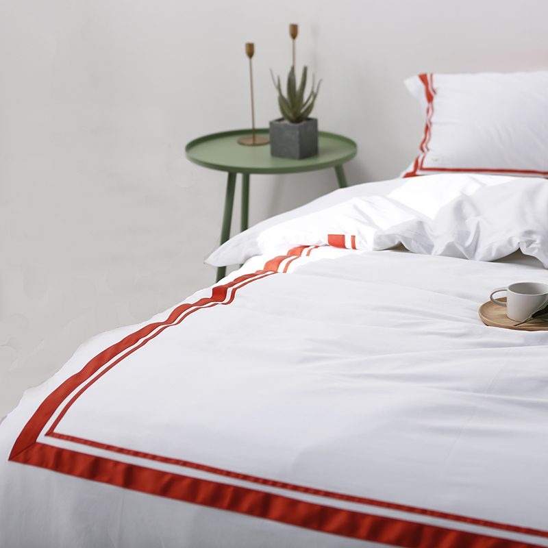 350t Satin Stitch Bedding Set