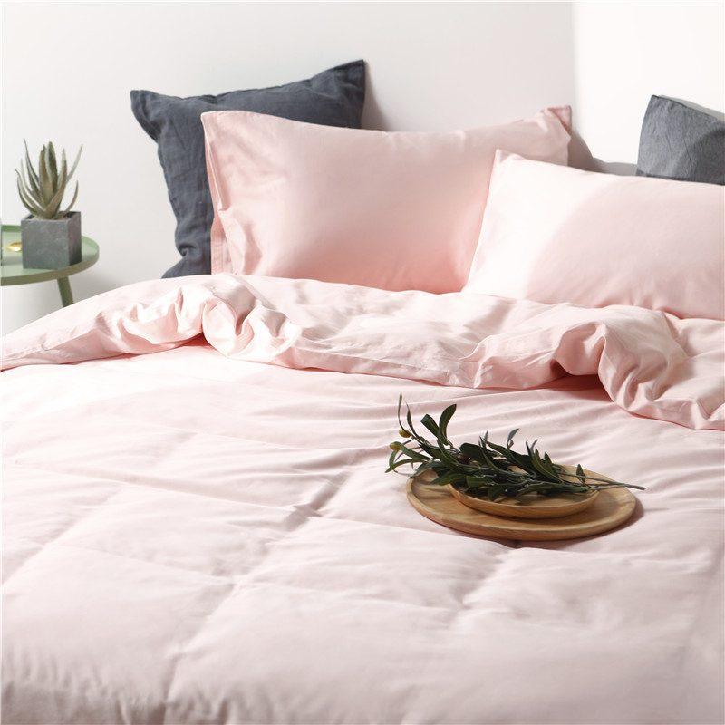 Plain Dyed Cotton Bedding Set