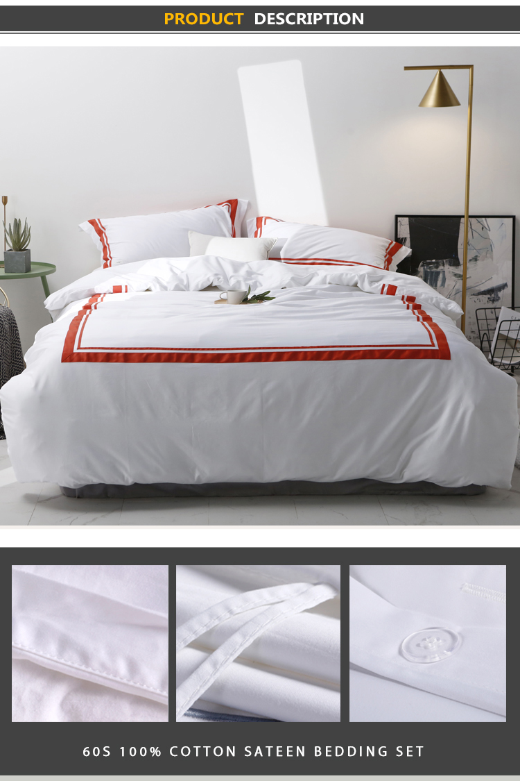 350tc Satin Stitch Bedding Set
