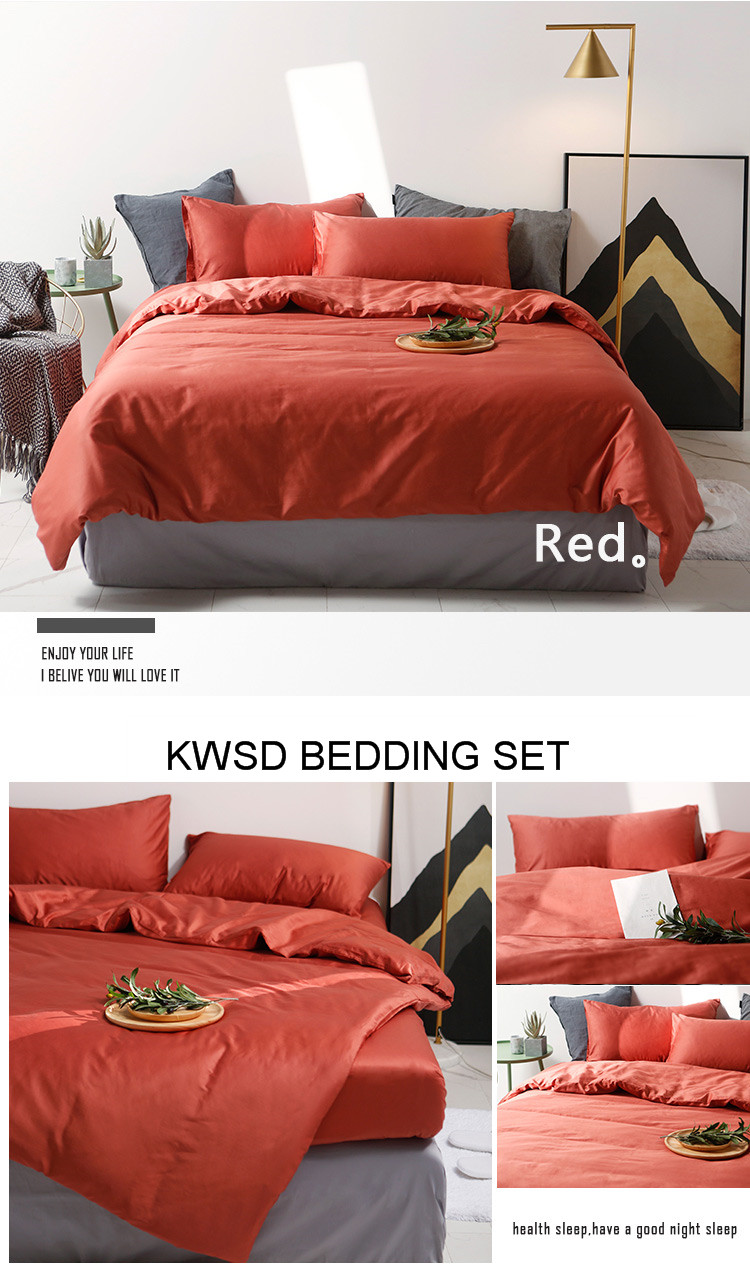 4pcs Sateen Bedding Set