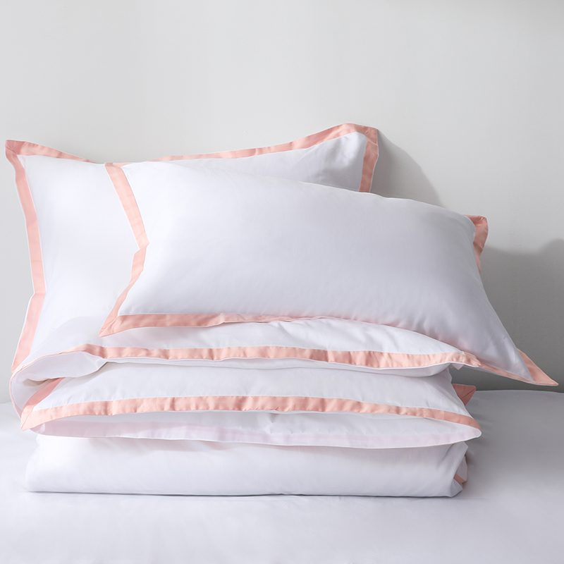 Pink border pillow case